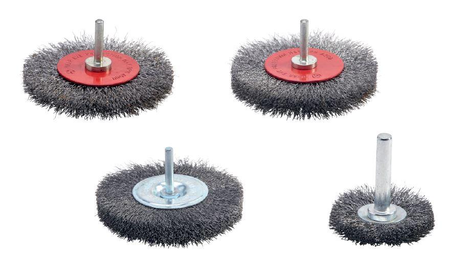 cepillos industriales circulares con eje púa metálica acero