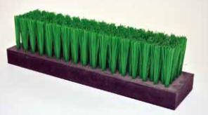 Cepillo técnico industrial liston rectangular 15x50 - 15x75 - 15x100 para guiado, limpieza, de protección, para deslizar, para abrillantar, para obturar y prevenir la suciedad y el ruido