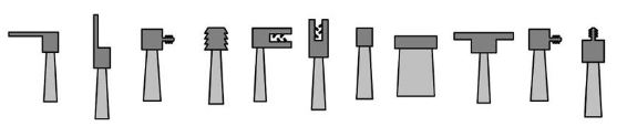 diferentes tipos de cuerpos de cepillo strip flexible